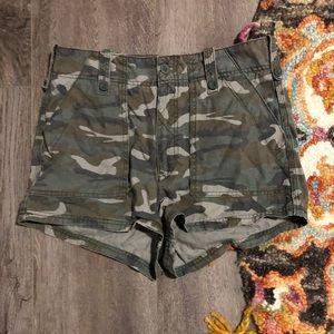 High waisted camouflage shorts!!